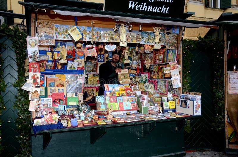 Tenda do mercado do Natal, Viena imagens de stock royalty free