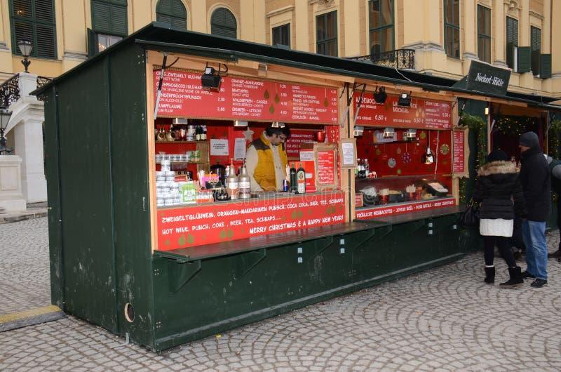 Tenda do mercado do Natal, Viena fotografia de stock