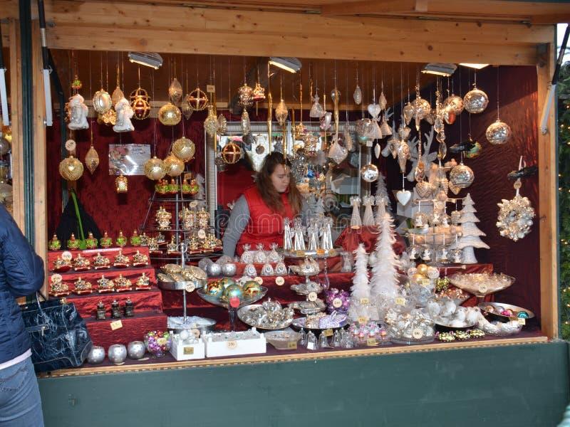 Tenda do mercado do Natal, Viena imagem de stock