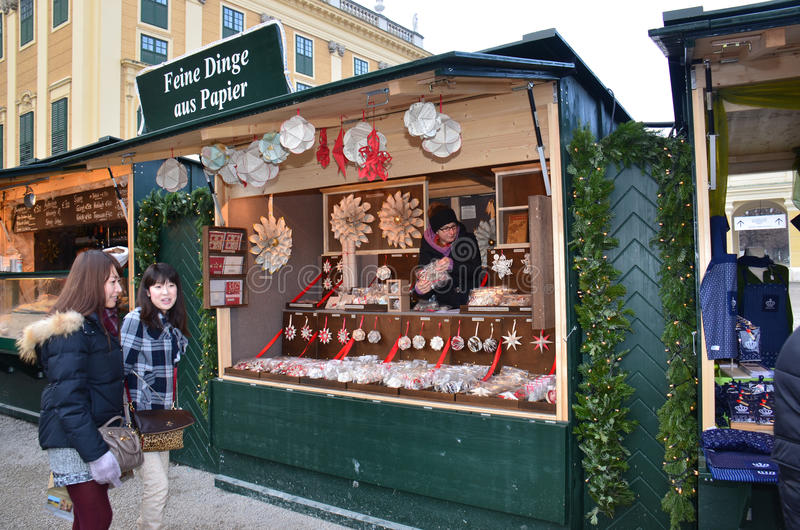 Tenda do mercado do Natal, Viena imagens de stock