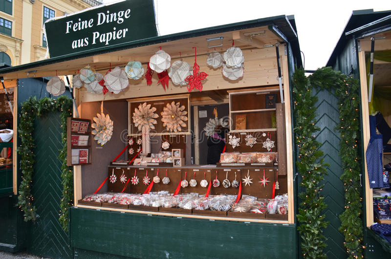 Tenda do mercado do Natal, Viena imagem de stock royalty free