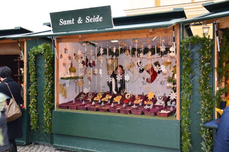 Tenda do mercado do Natal, Viena fotos de stock