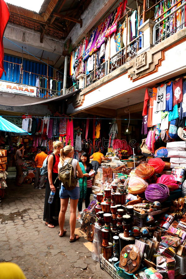 Tenda do mercado em bali foto de stock