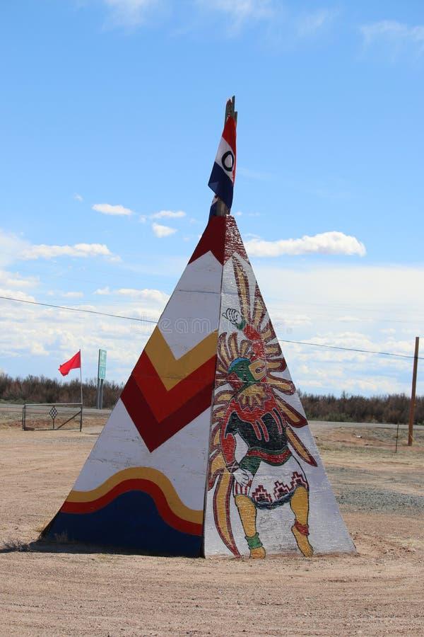 Tenda do Navajo & do Hopi Indian Store Wooden foto de stock