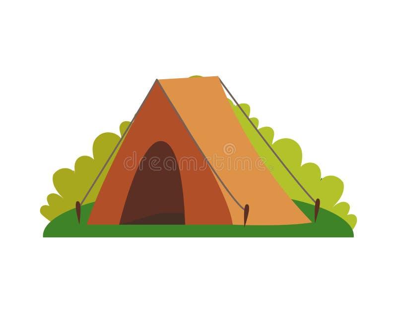 Tenda e pianta dell'illustrazione di vettore della natura illustrazione vettoriale