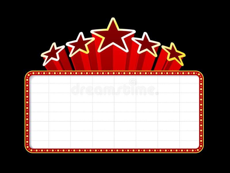 Tenda foranea in bianco di film, del teatro o del casinò illustrazione di stock