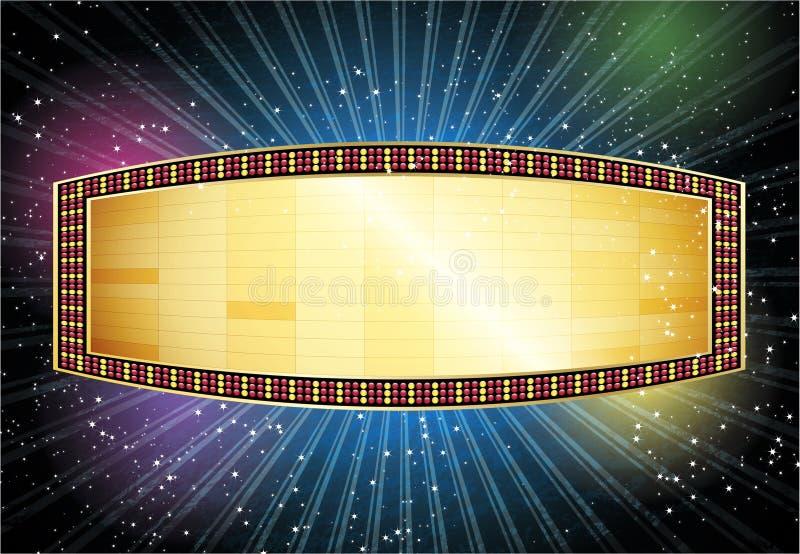 Tenda foranea di magia di film royalty illustrazione gratis