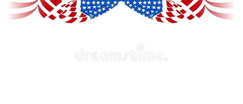 Tenda orizzontale della bandiera americana royalty illustrazione gratis