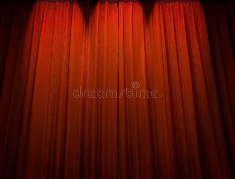 Download Tenda rossa del teatro immagine stock. Immagine di riflettore - 13551459