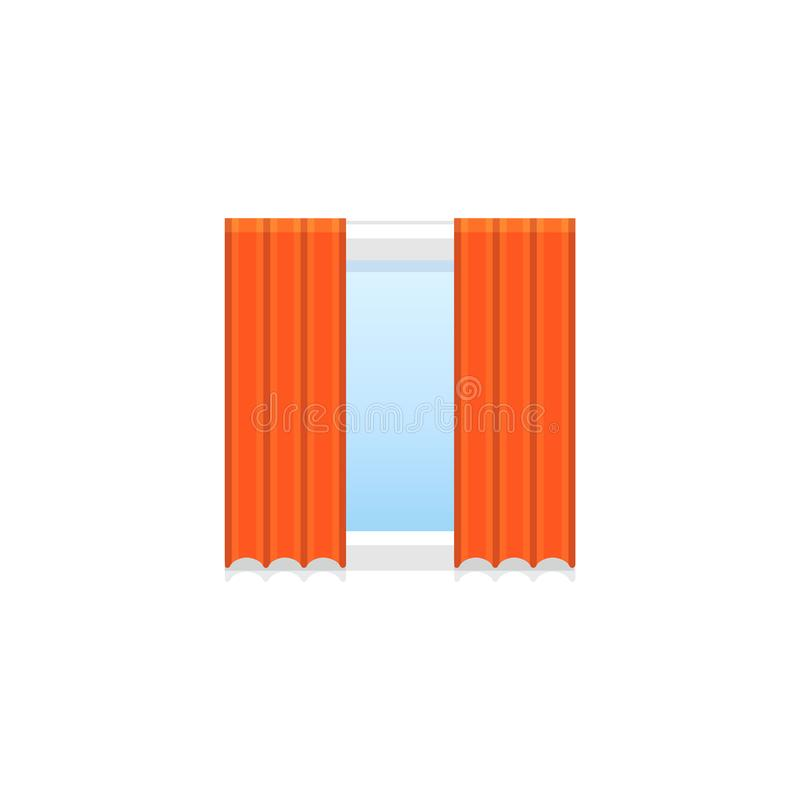 Tenda rossa del tessuto Illustrazione di vettore L'icona piana di copre fro royalty illustrazione gratis