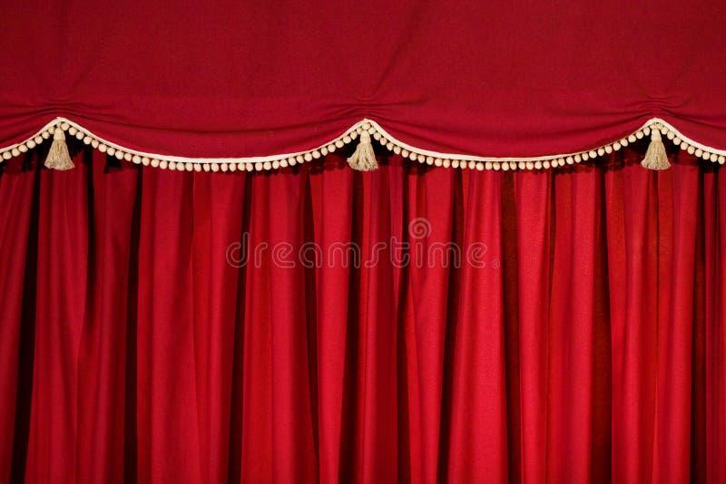 Tenda rossa della fase immagine stock