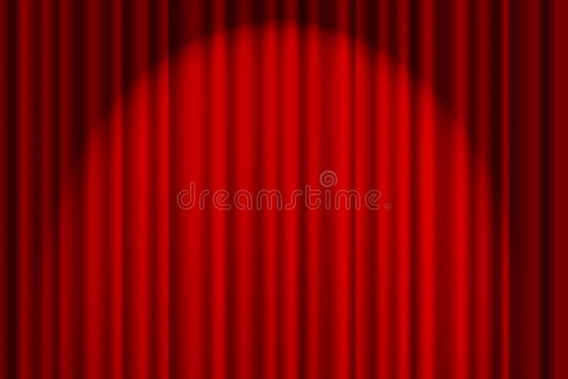 Tenda rossa sulla fase immagini stock