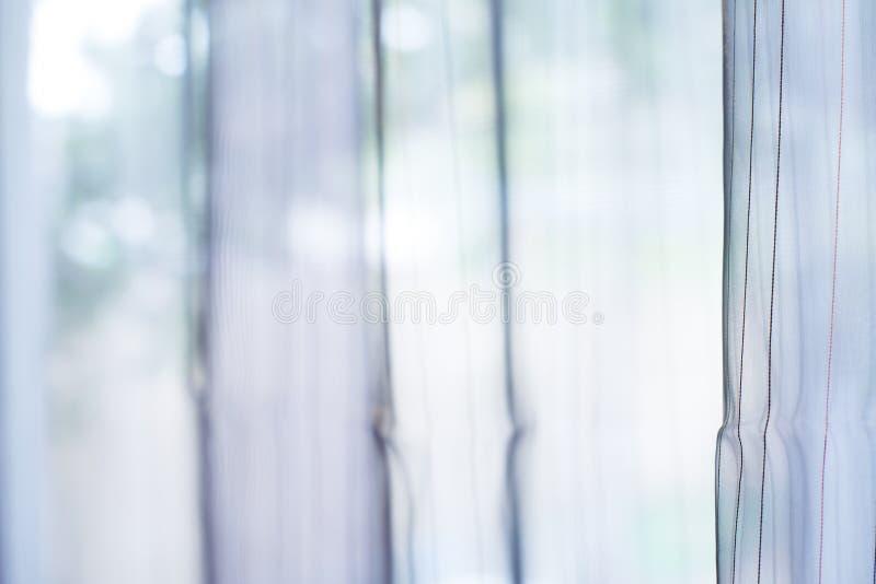 Tenda trasparente sulla finestra immagine stock libera da diritti