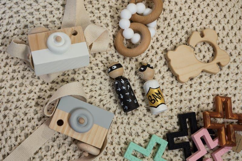 tendances nouveau-nées de bébé de Plat-configuration photo stock
