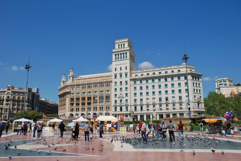 Tendas da política de Llibertat Presos, Barcelona foto de stock royalty free
