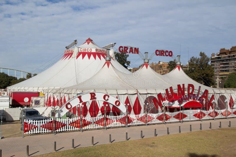 Tendas do circus fotografia de stock