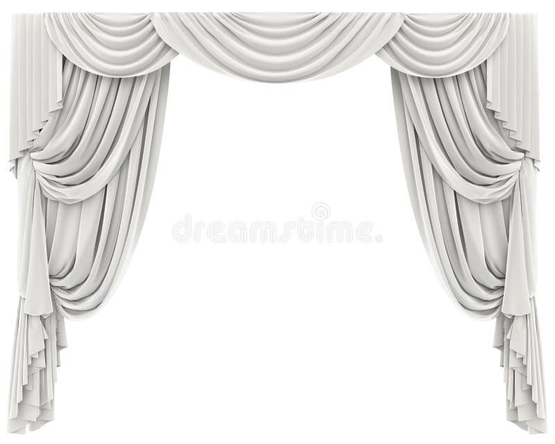 Tende bianche isolate illustrazione di stock