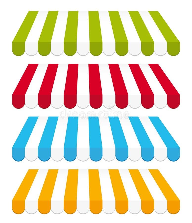 Tende colorate. illustrazione di stock