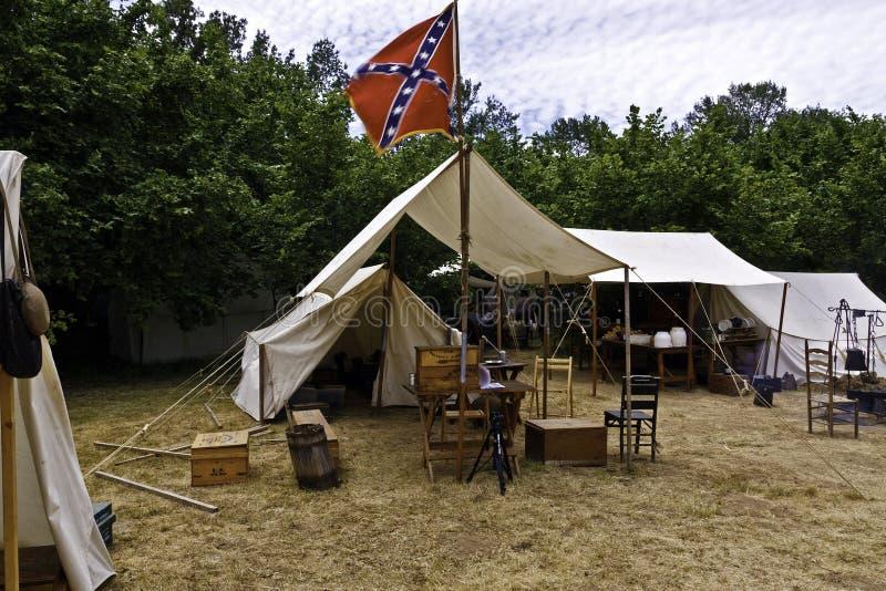 Tende della guerra civile fotografie stock