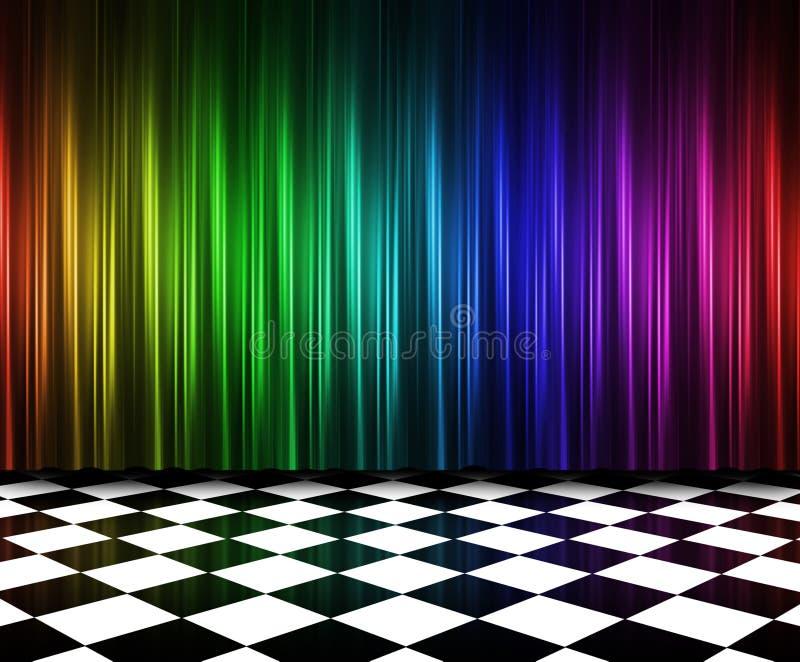 Tende nei multi colori illustrazione vettoriale
