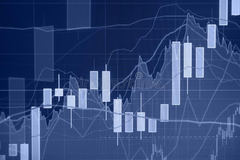 Tendencia al alza - mercado de acción - fondo financiero fotos de archivo