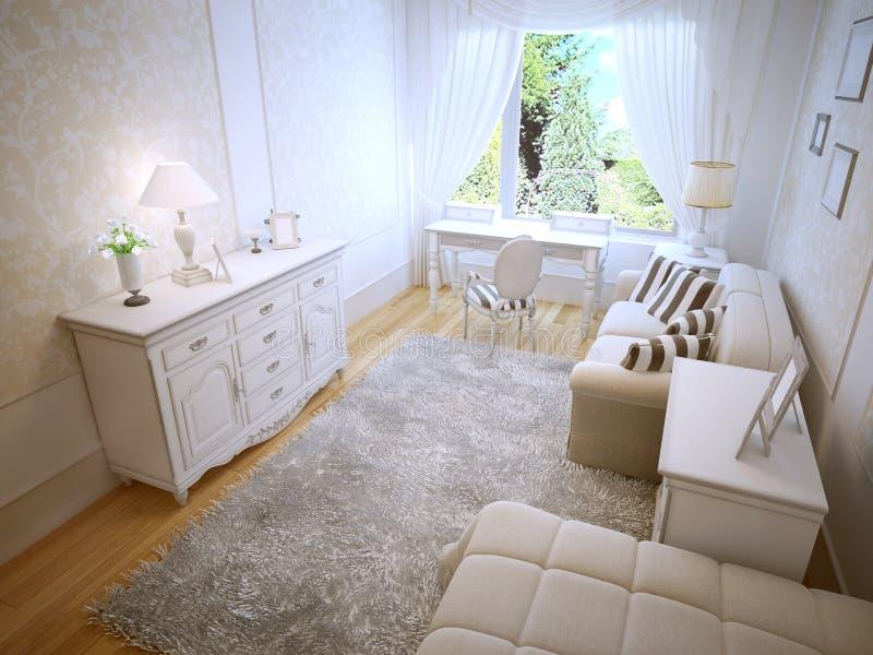 Tendencia brillante del dormitorio de Provence libre illustration
