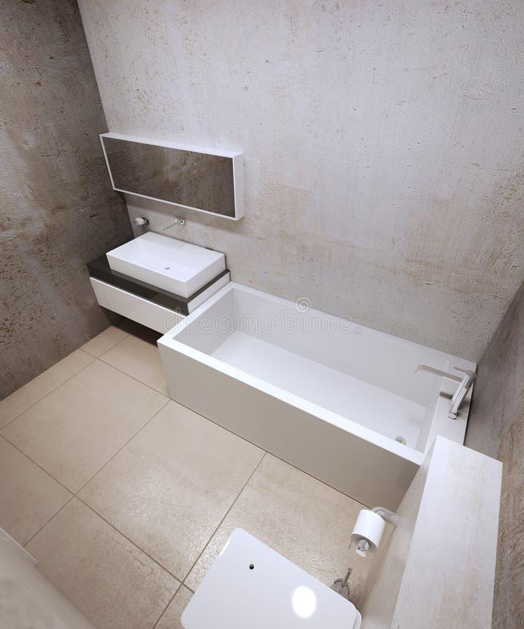 Tendencia del constructionism del cuarto de baño ilustración del vector