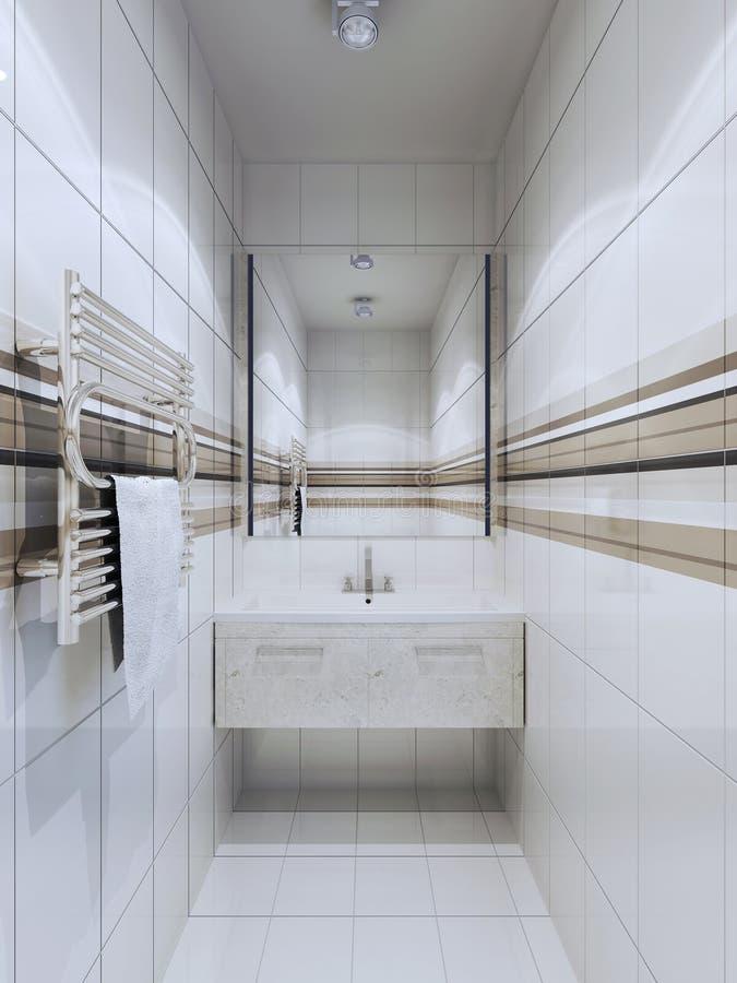 Tendencia del cuarto de baño de la fusión stock de ilustración