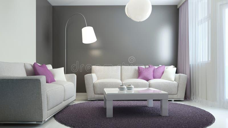 Tendencia escandinava de la sala de estar libre illustration