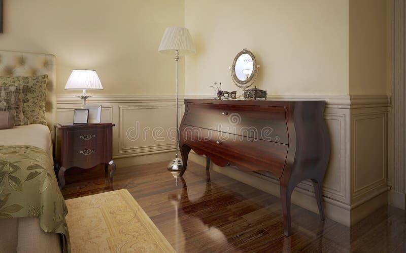 Tendencia moderna del dormitorio ilustración del vector