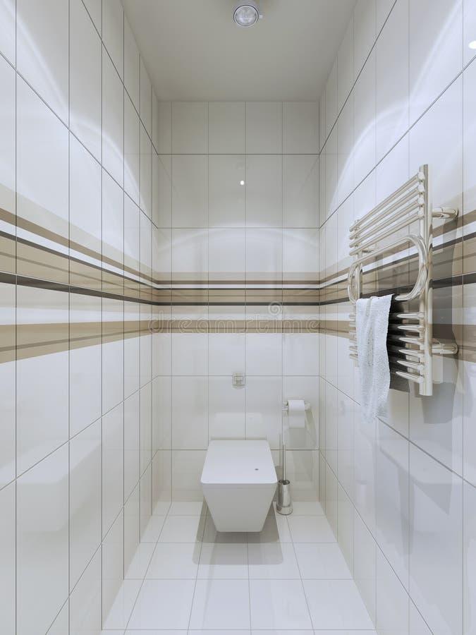 Tendencia moderna del wc ilustración del vector