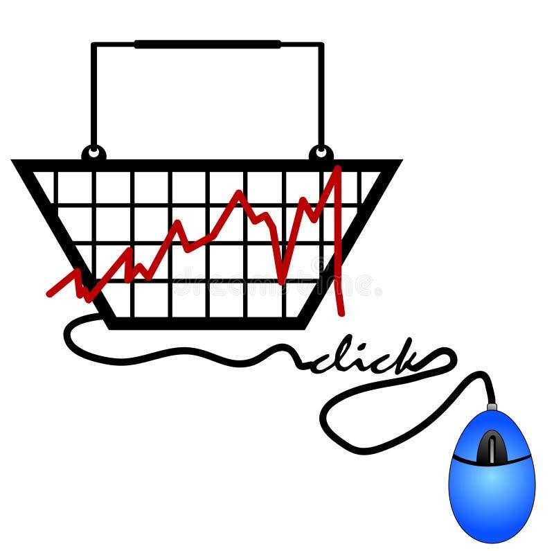 Tendencias de las compras del Internet ilustración del vector