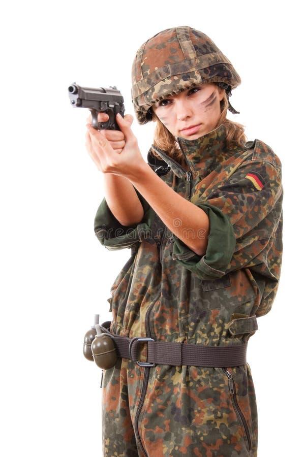 Tendenza militare della donna immagini stock