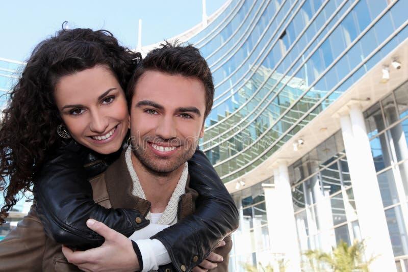 Tender Couple Scene Stock Images