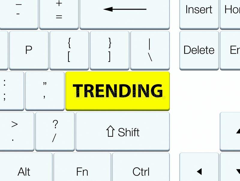 Tender el botón amarillo del teclado ilustración del vector