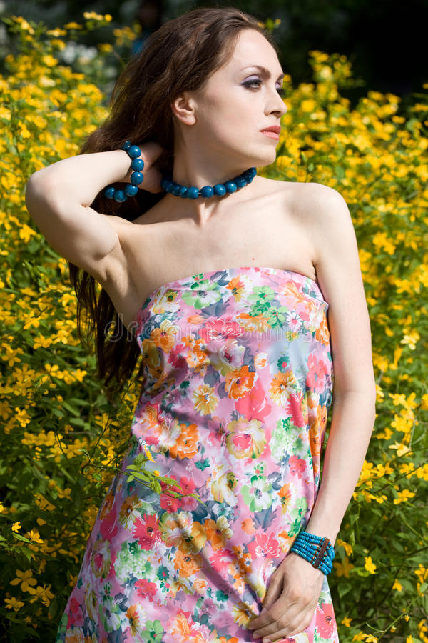 Download Tender Girl In The Garden Stock Photography - Image: 10490952
