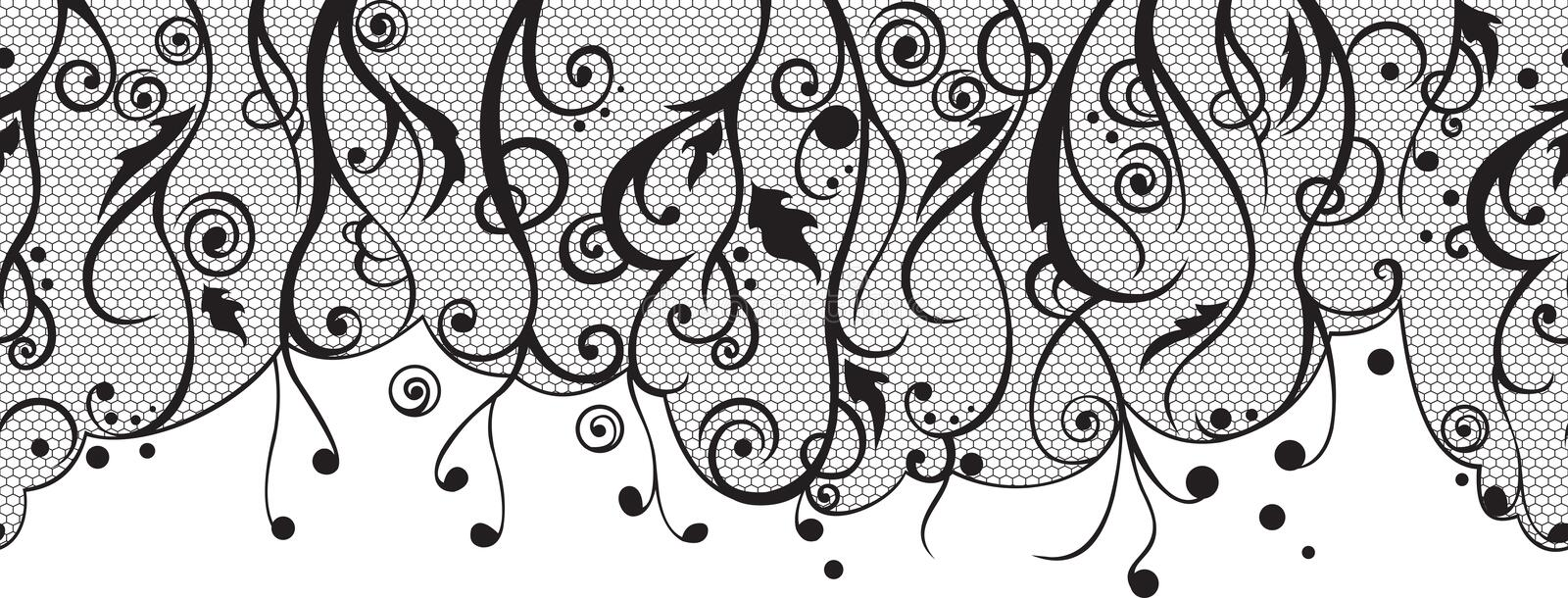 Tender lace pattern vector illustration