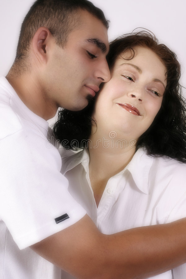 Tender moment royalty free stock photos