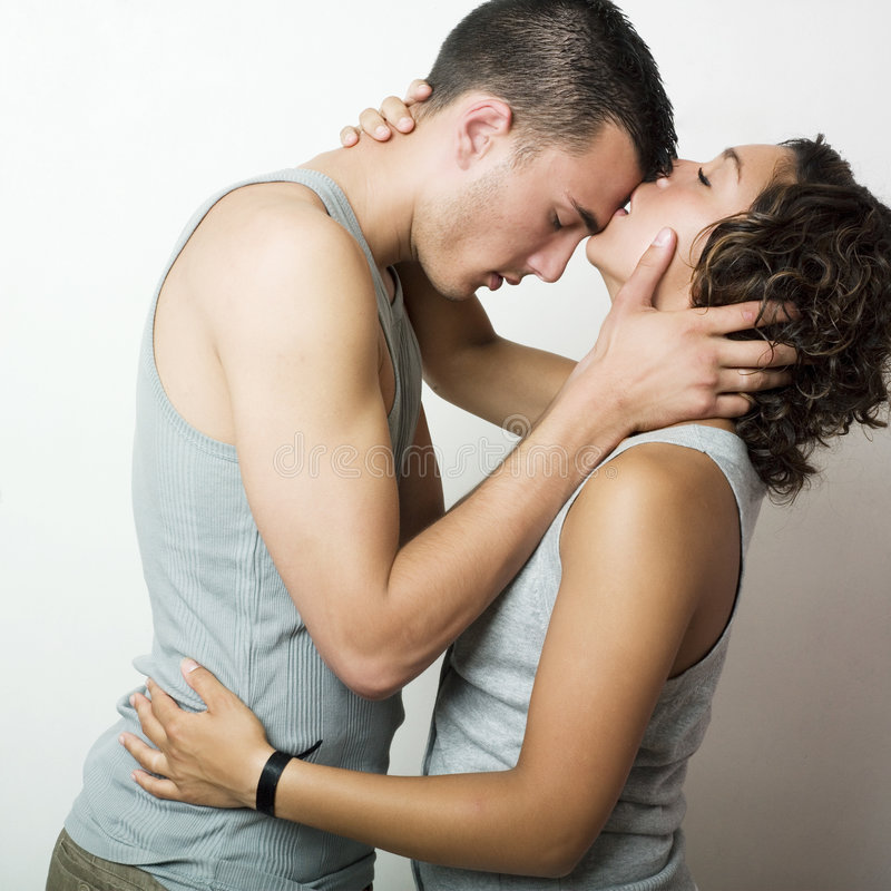 Download A tender moment stock photo. Image of sensuous, couple - 7129318