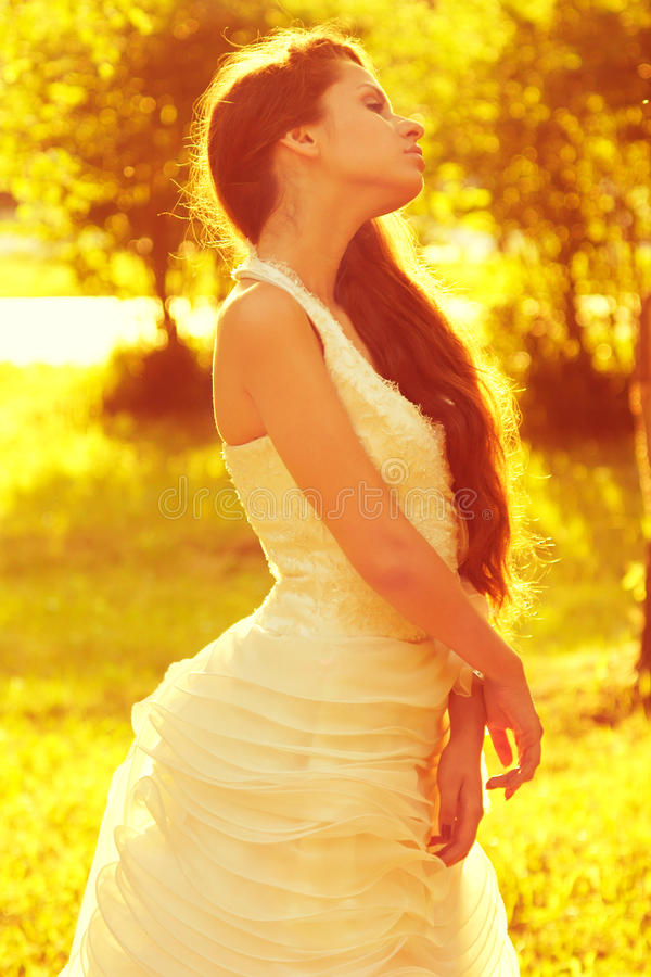 Tender Romantic Bride Royalty Free Stock Photo