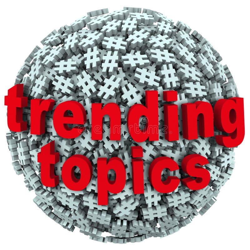 Tender símbolos calientes de la libra de la etiqueta del hachís del mensaje de la actualización de los posts de los temas stock de ilustración