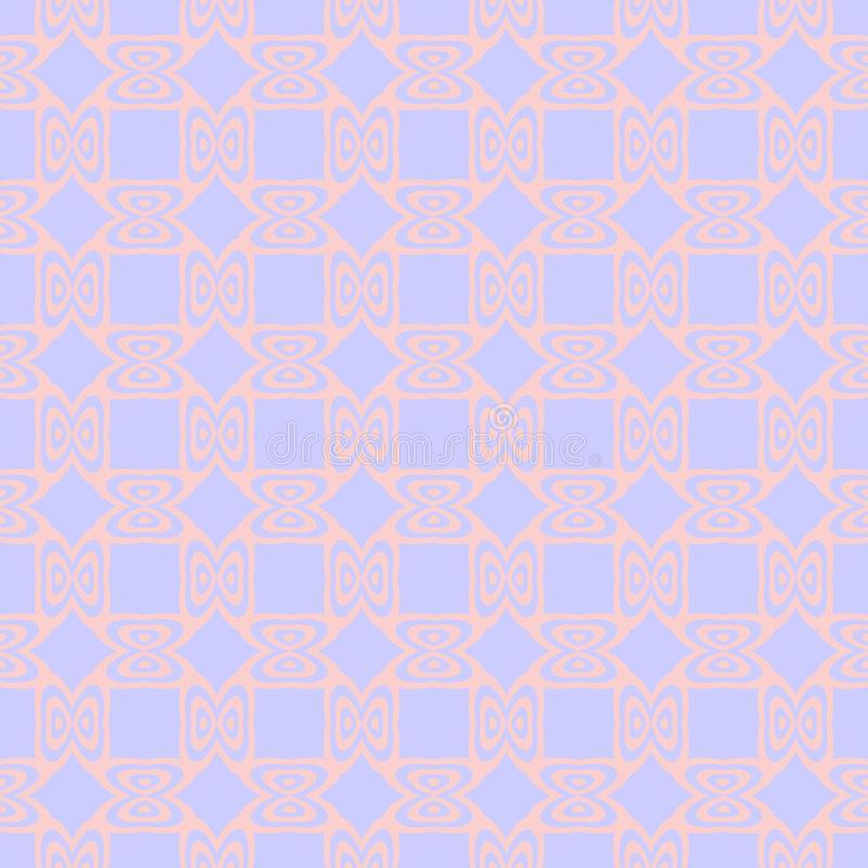 Tender seamless pattern with repeating ornament in pastel tones. vector illustration