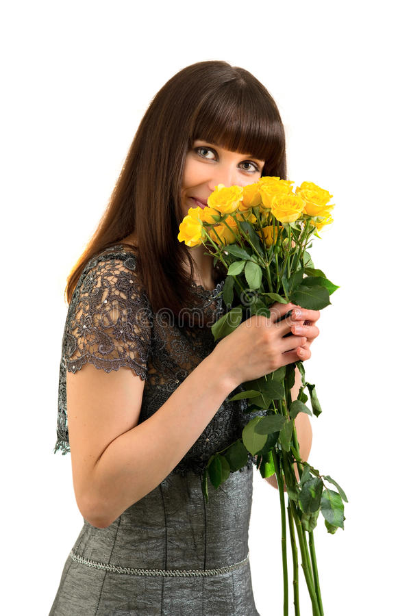 Tender smile stock images