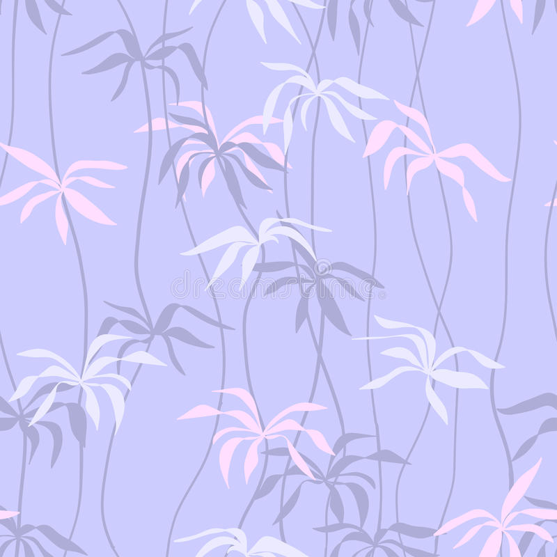 Tender Twigs Seamless Pattern Stock Photo