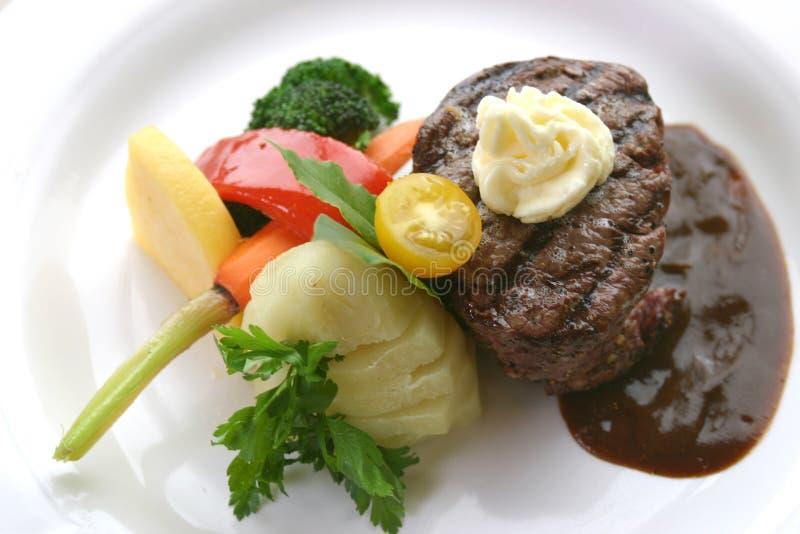tenderloin μπριζόλας γευμάτων στοκ εικόνες
