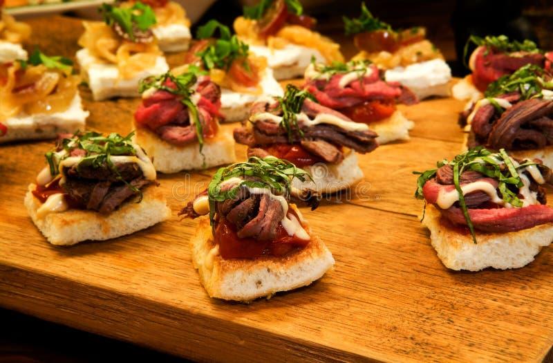 Tenderloin Appetizers stock photography