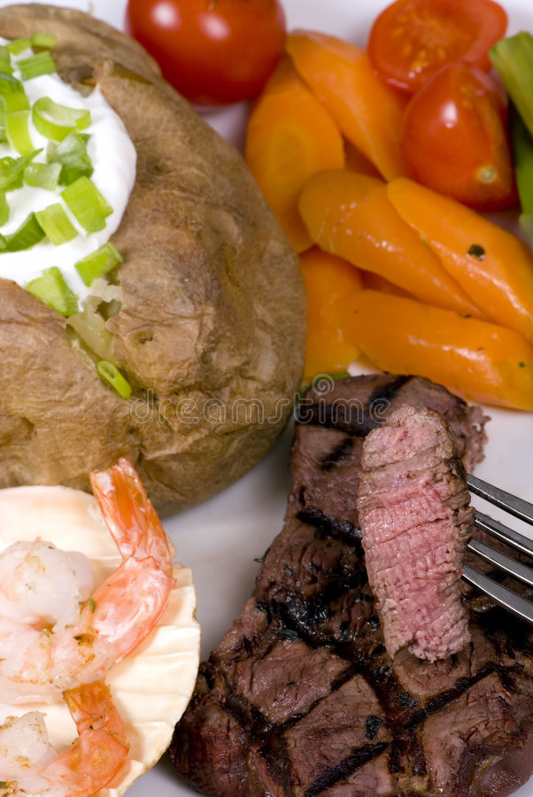 Download Tenderloin Steak 002 stock photo. Image of chives, meal - 2104014