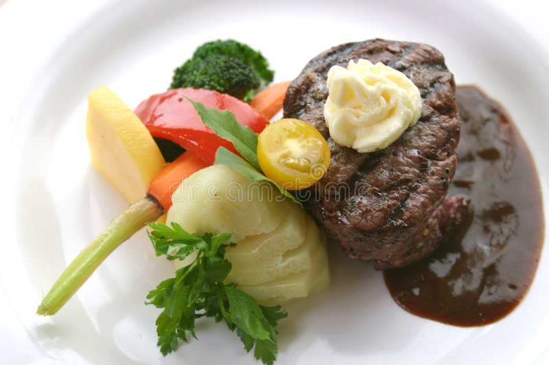 Download Tenderloin Steak Dinner stock photo. Image of food, potatoes - 159050