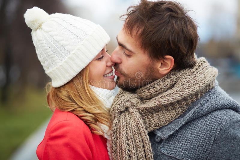 Download Tenderness stock image. Image of fall, love, couple, kissing - 35374569