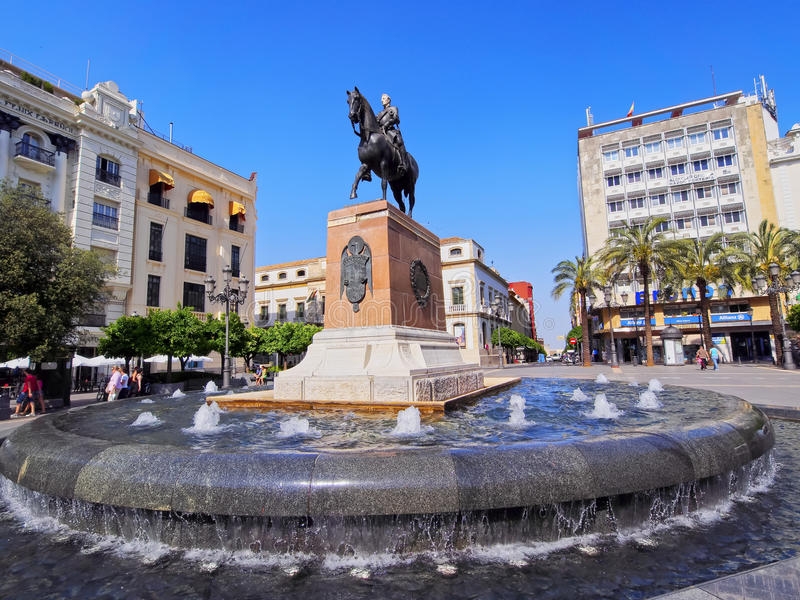 Tendillas fyrkant i Cordoba, Spanien fotografering för bildbyråer